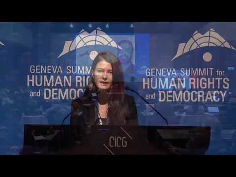Maryam Nayeb-Yazdi at Geneva Summit 2018