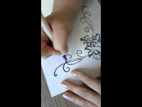 Haft - nanoszenie wzoru na tkaninę cz.1