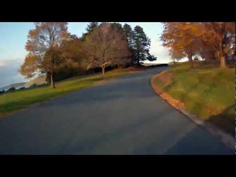 Quabbin Reservoir - Drive Thru (10/16/11 5:30pm) (Speed 500%)