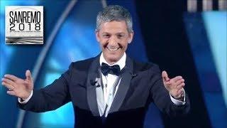 Sanremo 2018 - 1^ serata - Fiorello super ospite sul palco dell'Ariston