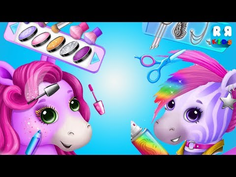 Pony Sisters Pop Music Band - Kids Play and Learning Colour Hair Make Up and Play Music