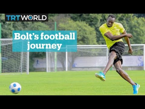 Usain Bolt is playing football at Old Trafford - YouTube ee25b5d329
