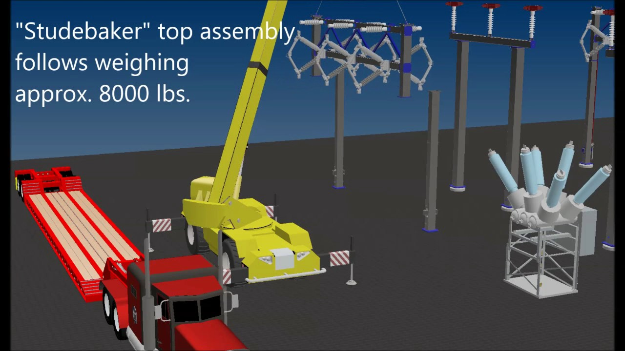 3D Electrical Substation Installation Tutorials - YouTube