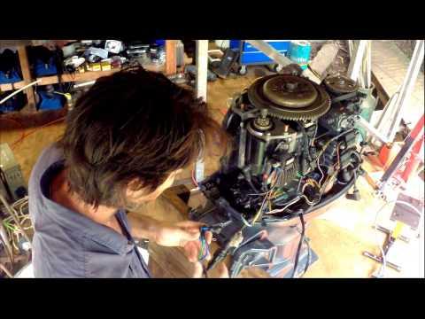 Installing the powerhead on a Yamaha 50HP four stroke outboard