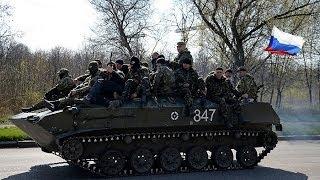Голодные солдаты Украины подняли российские флаги!