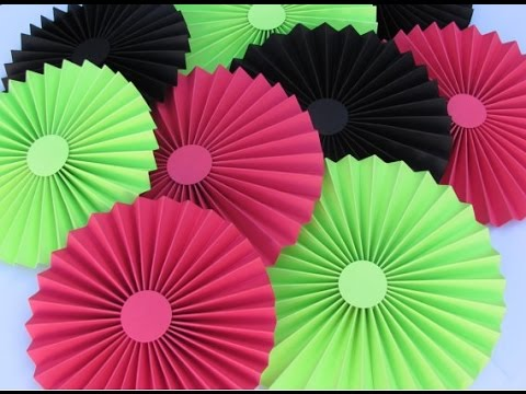 Diy paper crafts how to make simple paper rosettes spring diy paper crafts how to make simple paper rosettes spring flowers innovative arts mightylinksfo