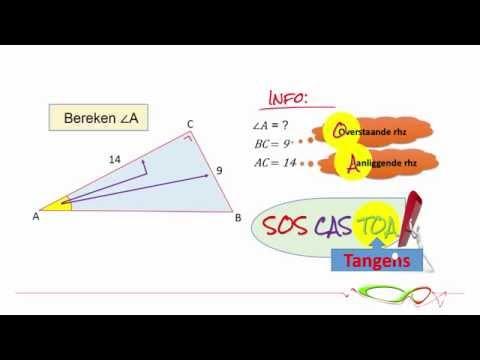 Wiskunde - Hoeken berekenen met behulp van de sinus, cosinus en tangens