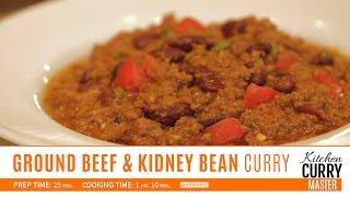 Ground Beef & Kidney Bean Curry