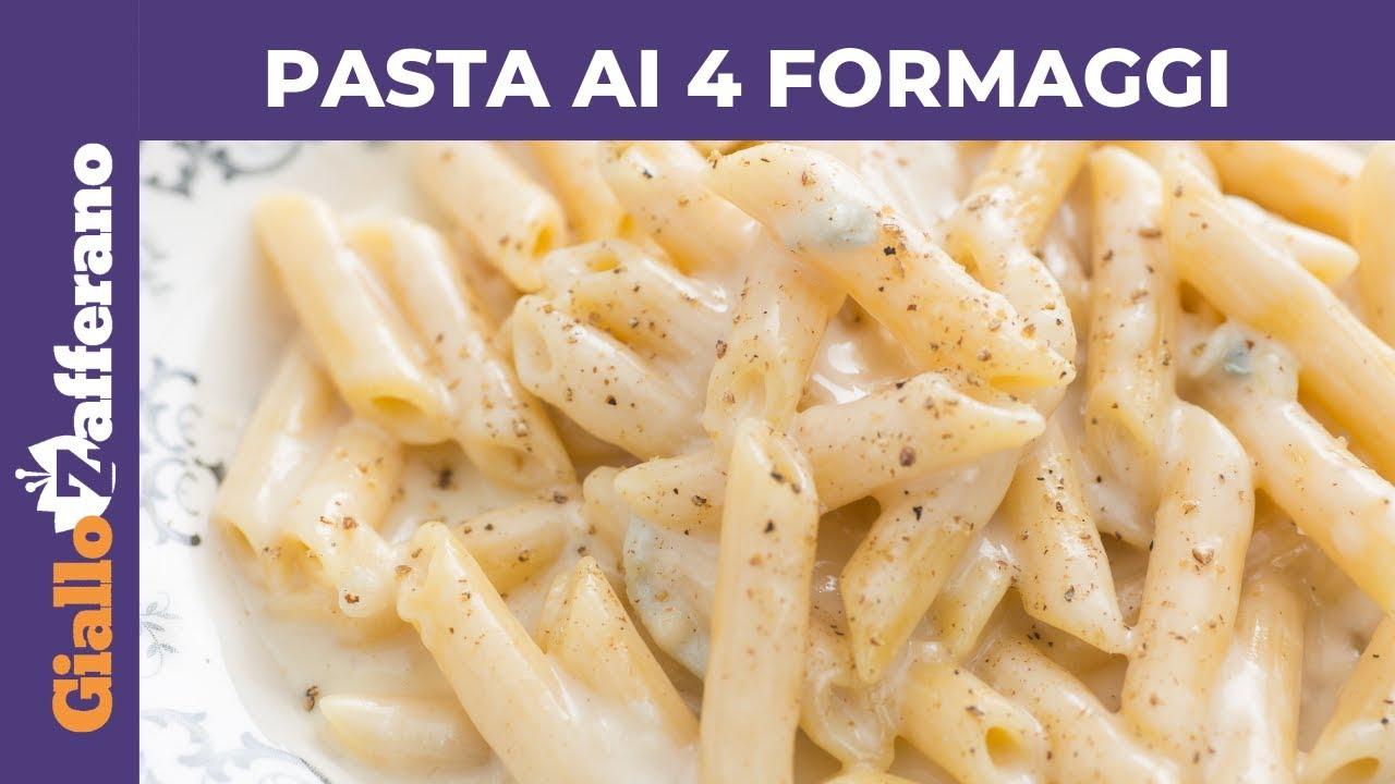 Pasta ai 4 formaggi primo piatto veloce e gustoso youtube for Primo piatto veloce