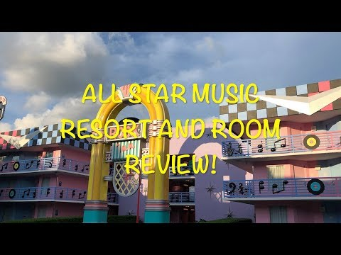 Disney's All Star Music Resort And Room Tour
