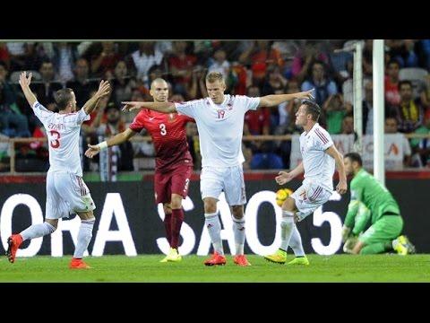 Bekim Balaj gol Portugali-Shqiperi 0-1