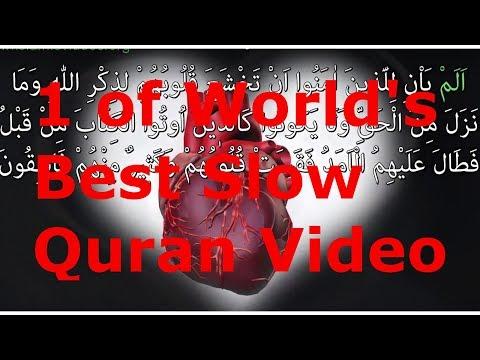 1 Of World's Best Slow Quran Recitation, AMAZING VIEWS, Surah IRON, 1-1 WORDS,