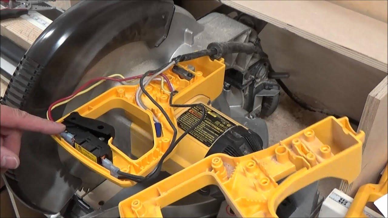 DeWalt DW705 Switch Replacement Kit  YouTube