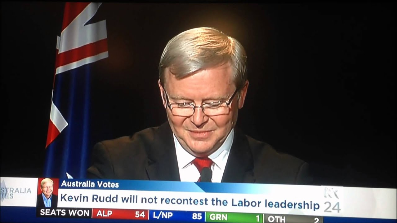 Hd Version Kevin Rudd Concedes Defeat Speech Election 2013 Part 1 Of 2 Youtube