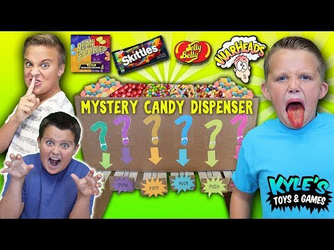 Mystery Candy Dispenser! Funny Cardboard Vending Machine Joke!