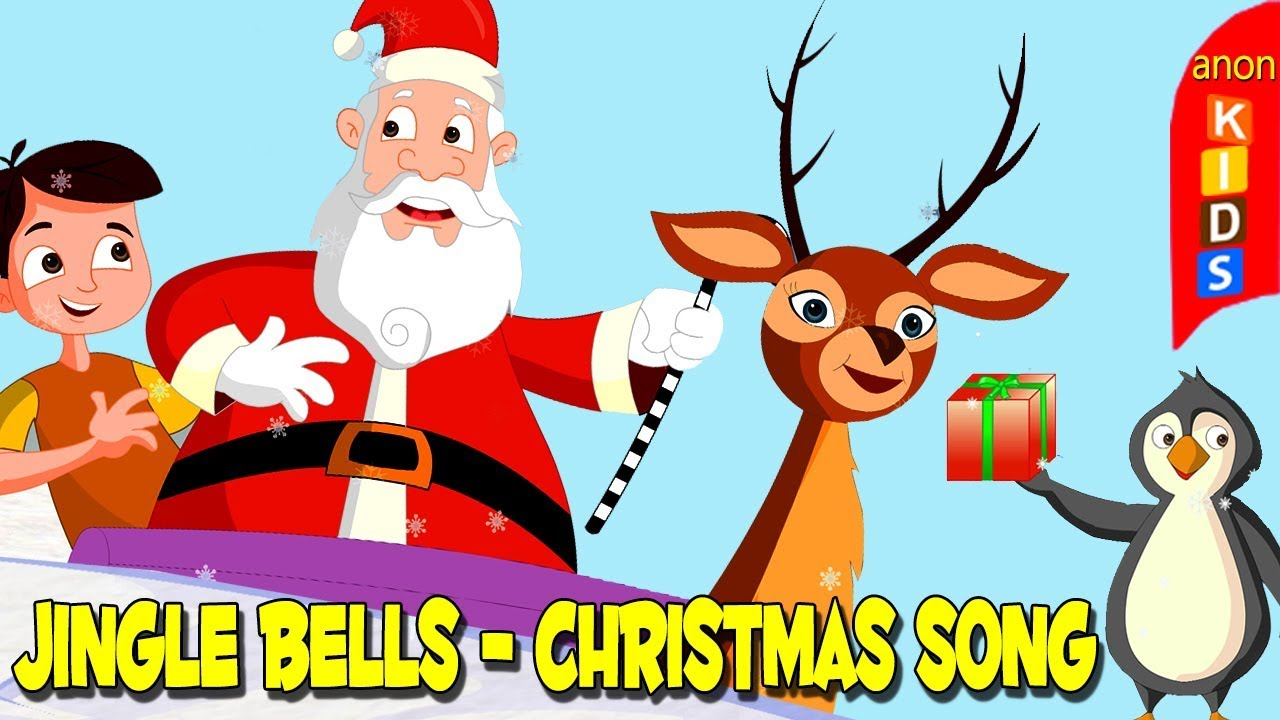 Jingle Bells Song For Children With Lyrics   Xmas Songs For Kids   Nursery Rhymes For Babies ...