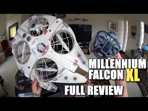 Star Wars MILLENNIUM FALCON XL Drone - Full Review - [Unbox, Inspection, Flight Test, Pros & Cons]