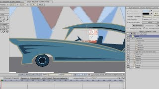 Как сделать бесконечно меняющийся зацикленный фон в мультфильме в Anime Studio Pro (Moho Pro)
