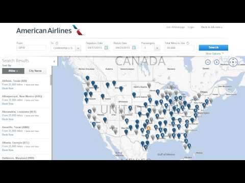 Where Can Your AAdvantage Miles Take You? American Airlines Award Map Demo