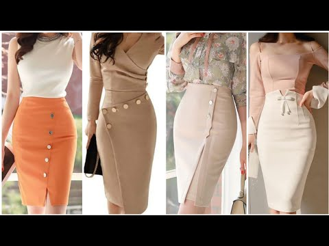 Office Wear Pencil Skirt Collection For Business  Women 2019-20