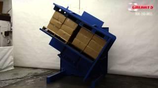 Sc Pallet Inverter: Double Wide Basket For Handling Two Loads At Once