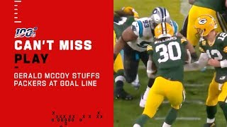 Gerald McCoy Absolutely STUFFS Jamaal Williams at the Goal Line