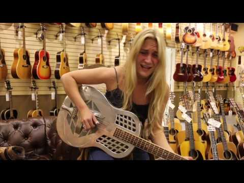 Sarah Rogo playing our 1930 National Tri-Cone Round Neck here at Norman's Rare Guitars