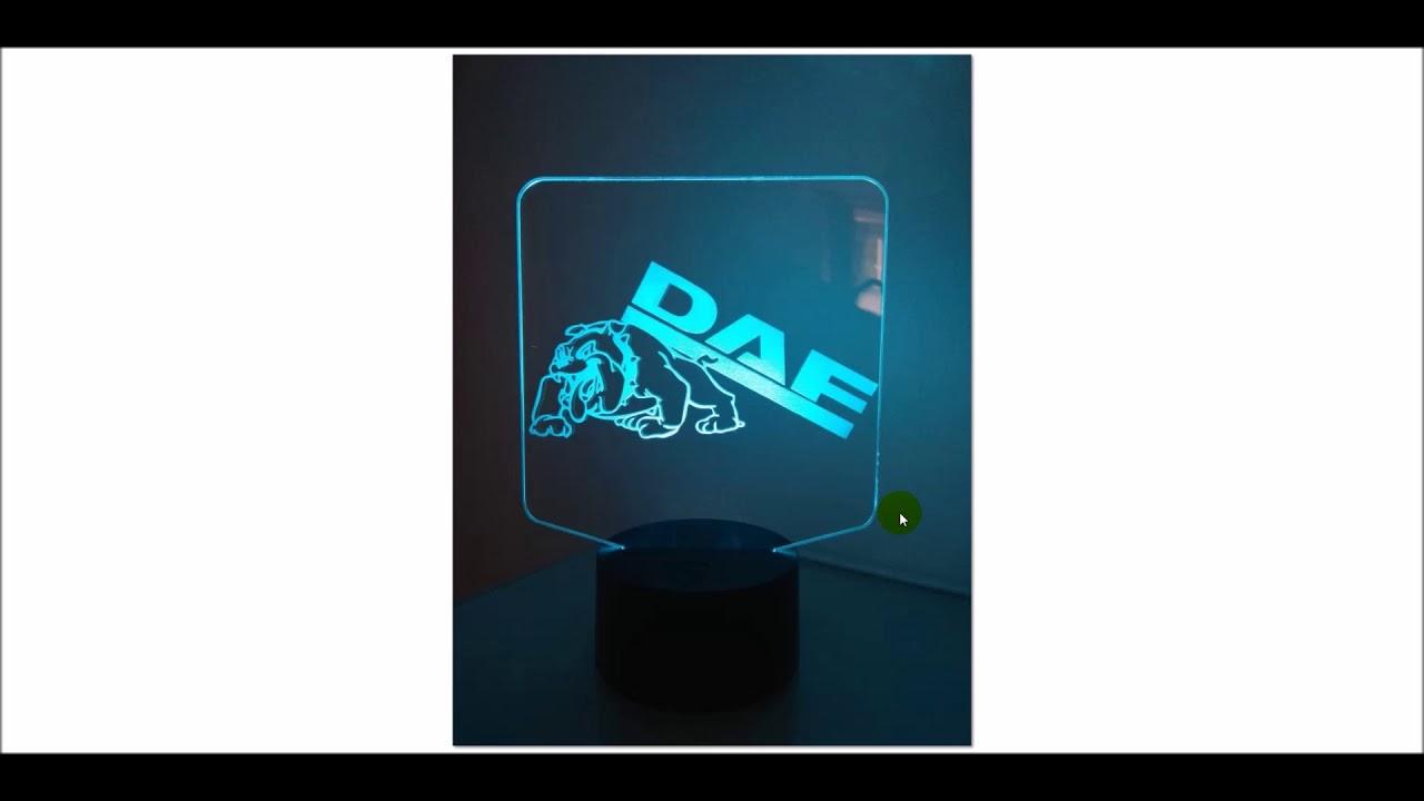 Lasergravierte Plexiglasscheiben Mit Led Beleuchtung Fur Euren Truck