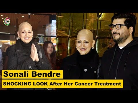 Sonali Bendre SHOCKING LOOK After Her Cancer Treatment Returns To India - HUNGAMA