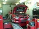 Evo 9 WRC being rolling roaded at Alan Jeffery's Plymouth