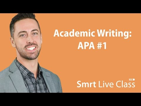 Academic Writing: APA #1 - English for Academic Purposes wit