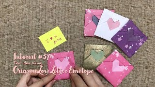 How to Make DIY Origami Love Letter Envelope The Idea King Tutorial #37