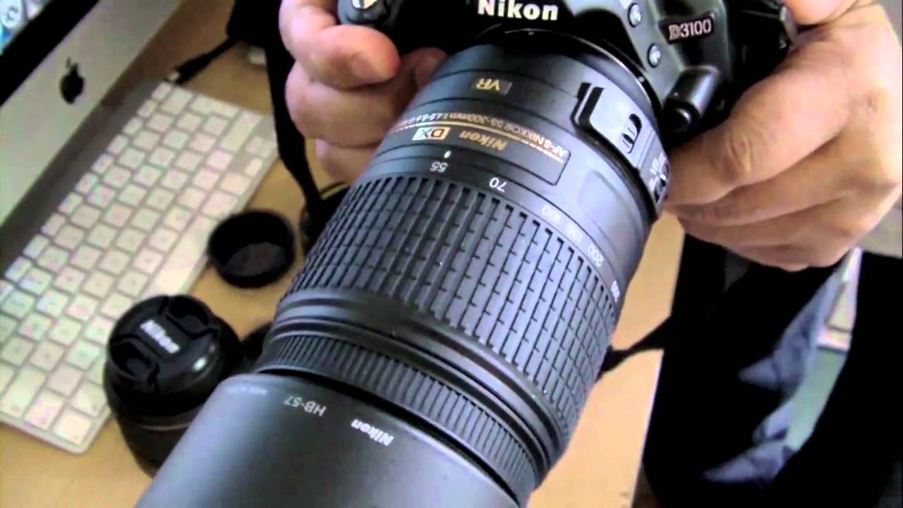 Nikkor AF-S 55-300mm VR Lens - Unboxing and zoom test with D3100 ...