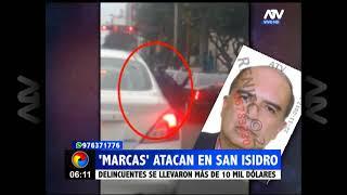 """""""Marcas"""" atacaron a un conductor en San Isidro"""