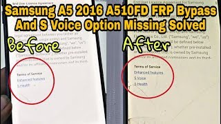 not Showing S VOICE Option A5 A510 Fixed  FRP Bypass  Google Account Remove - Urdu/Hindi