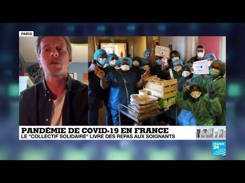 """Coronavirus en France : Le """"collectif solidaire"""" livre des repas aux soignants"""