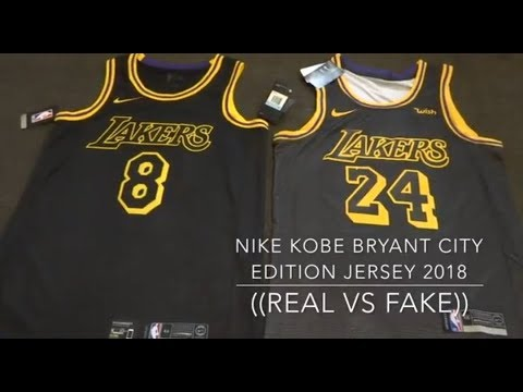 NIKE KOBE BRYANT CITY EDITION JERSEY ((REAL VS FAKE)) - YouTube c4b4ed34b
