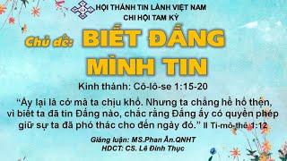 HTTL TAM KỲ - Chương trình thờ phượng Chúa - 23/08/2020