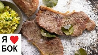 Мясо запеченное на соли. Стейк в духовке с картошкой.