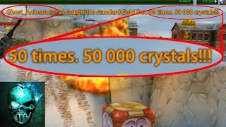 I caught the 50,000 Crystals Gold Box (not clickbait) 2018  - Tanki Online - Ghost Animator TO