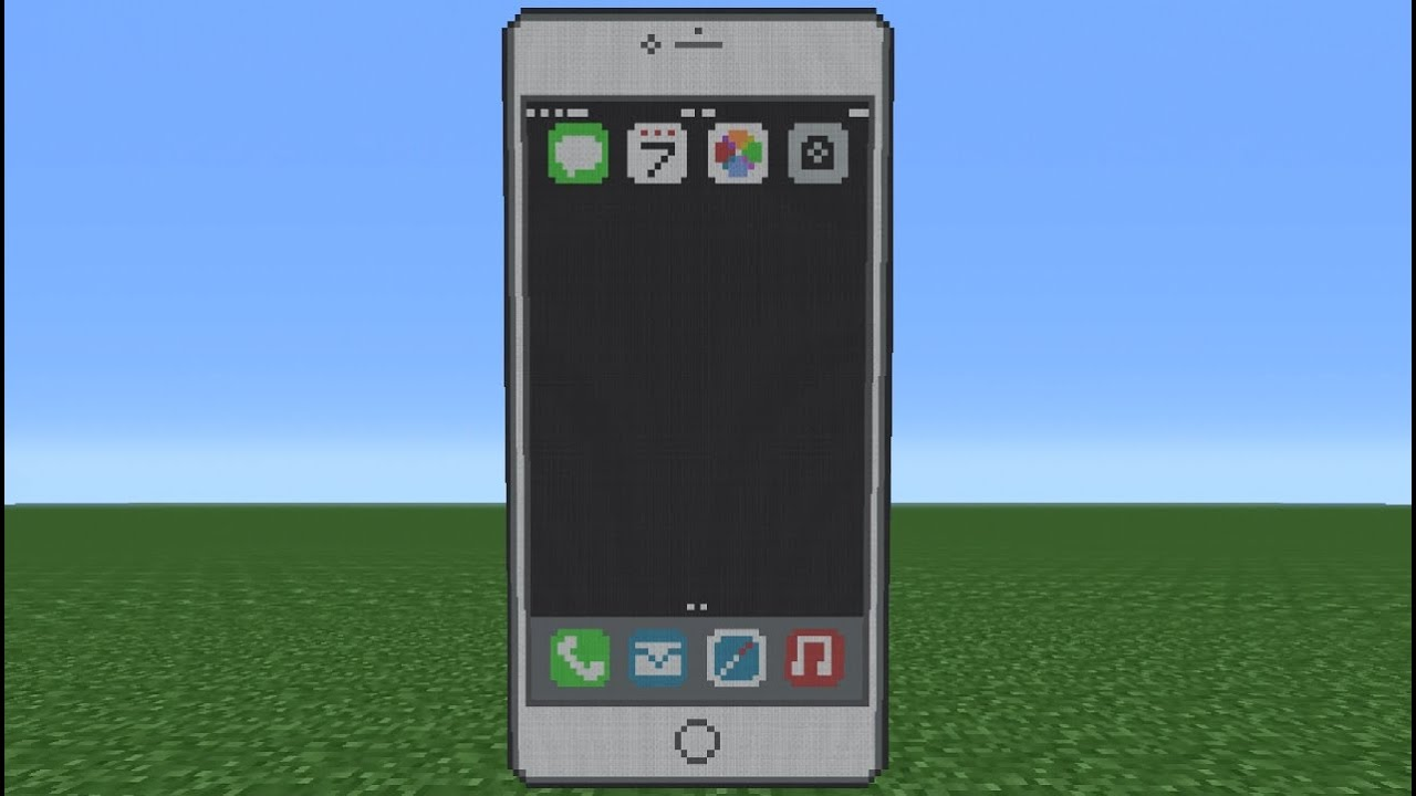механизм телефон iphone работающий в майнкрафте #2