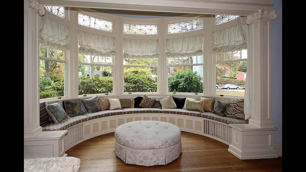 window treatments for bay windows - YouTube