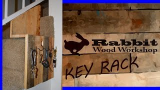 Rustic Key Rack Make From Pallet Wood