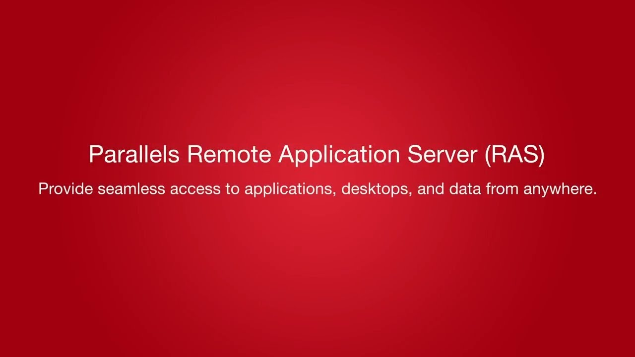 Parallels Remote Application Server - Thin Solution Systems