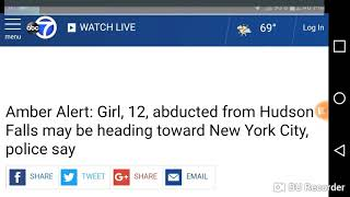 Amber Alert Issued For Missing Child In NY