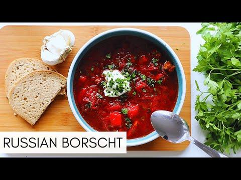 CLASSIC RED BORSCHT | RUSSIAN/UKRANIAN BORSCH | BEET SOUP (БОРЩ)
