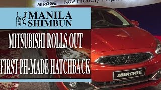 Mitsubishi rolls out first PH-made hatchback
