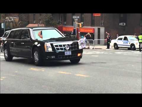 UNITED STATES PRESIDENT BARACK OBAMA LEAVING THE UNITED NATIONS 70TH GENERAL ASSEMBLY MEETINGS.