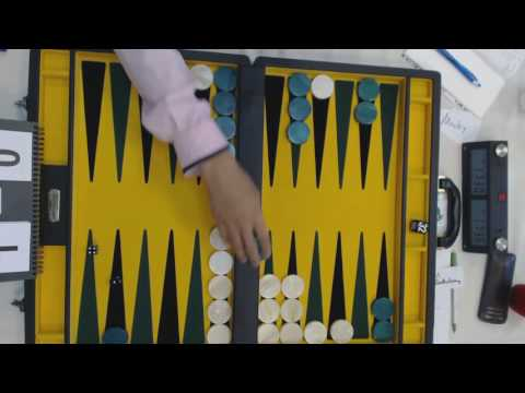Mochy Mochizuki VS Bill Bartholomay   Chicago Backgammon 2016 Open Main