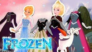 Disney Frozen Sparkling Magnetic Paper Dolls Princess Anna Elsa Muñecas magnéticas Papel Brillante